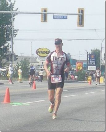 Bruce Morgan running Ironman Canada 2009
