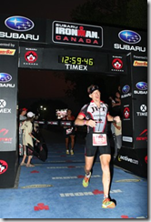 Bruce Morgan Ironman Canada 2009 finish