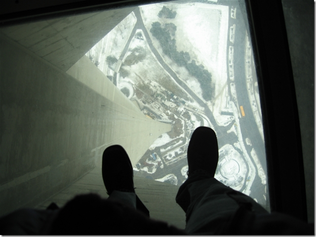 Glass Floor at the CN Tower, Toronto
